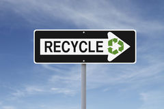 Recycle Road Sign Stock Image