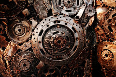 Recycle rough metal cogwheel texture background Royalty Free Stock Image