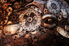 Recycle rough metal cogwheel texture background Stock Photography
