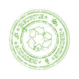 Recycle rubber stamp Royalty Free Stock Image