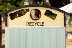 Recycle Rubbish Bin. In outdoor park Stock Image
