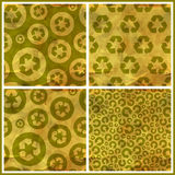 Recycle. Seamless pattern. Royalty Free Stock Photo