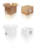 Recycle shipping box Royalty Free Stock Photography