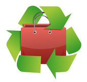 Recycle shopping bag illustration design Stock Photo