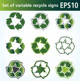Recycle sign Royalty Free Stock Photos
