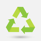 Recycle sign. Fold corner paper Royalty Free Stock Images