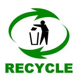 Recycle sign. Computer generated image Stock Image