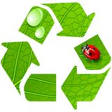 Recycle sign. vector illustration