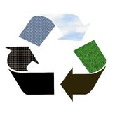 Recycle sign as pictogram Royalty Free Stock Images