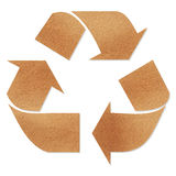 Recycle sign on brown paper Stock Photography