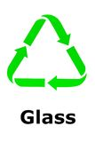 Recycle sign - glass. For Green Environment Stock Images