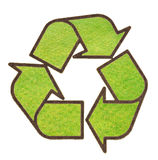 Recycle sign from green grass royalty free stock images