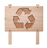 Recycle sign  isolated, clipping path. Royalty Free Stock Images