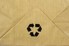 Recycle sign on paper bag Royalty Free Stock Photo