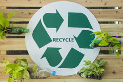 Recycle sign for public relations Stock Images