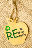 Recycle sign and Reduce, Reuse, Recycle. Stock Photography