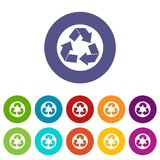 Recycle sign set icons. Recycle sign in simple style isolated on white background vector illustration Royalty Free Stock Images