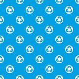 Recycle sign pattern seamless blue. Recycle sign in simple style isolated on white background vector illustration Stock Photo