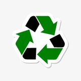 Recycle sign sticker Royalty Free Stock Photos