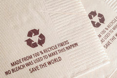 Recycle sign on tissue paper made from 100% recycle fibers, no b Royalty Free Stock Photos