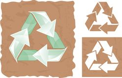 Recycle sign in vector Royalty Free Stock Photography