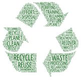 Recycle sign - Word cloud illustration stock photography