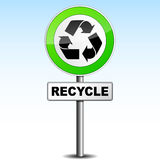 Recycle signboard Royalty Free Stock Photo