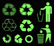 Recycle signs Stock Images