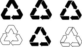 Recycle vector icons Stock Images