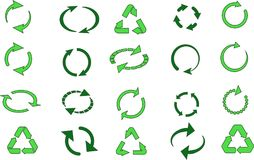 Recycle signs set Stock Image