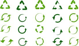 Recycle signs set Stock Photography