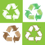Recycle sketch as doodles Royalty Free Stock Photos