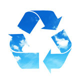 Recycle sky symbol Stock Image