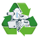 Recycle Small Electronic Appliances Royalty Free Stock Photo