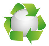Recycle sphere Stock Photo