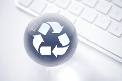 Recycle sphere consept. Global sphere concept on the white background Royalty Free Stock Photography