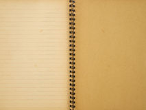 Recycle spiral notebook Stock Images