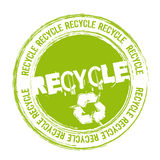 Recycle stamp Royalty Free Stock Photos