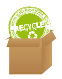 Recycle stamp Stock Photo