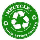 Recycle-stamp Royalty Free Stock Image