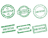 Recycle stamps Stock Images