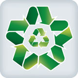 Recycle star (vector) Royalty Free Stock Images