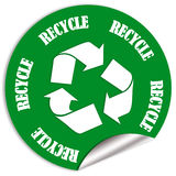 Recycle sticker Royalty Free Stock Photo