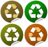 Recycle stickers Stock Image