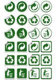 Recycle stickers Stock Photography