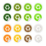 Recycle stickers , icons Royalty Free Stock Photos