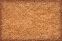 Recycle Striped Brown Kraft Paper Grunge Texture - Detail Stock Photo