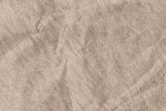 Light Brown Striped Recycled Manila Kraft Wrapping Paper Coarse Grain Crumpled Grunge Texture Stock Photography