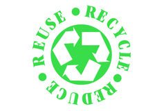 Recycle Symbol. Recycle Reduce Reuse Green Symbol royalty free illustration