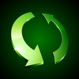Recycle symbol. 3d recycle symbol. Vector illustration Royalty Free Stock Photo